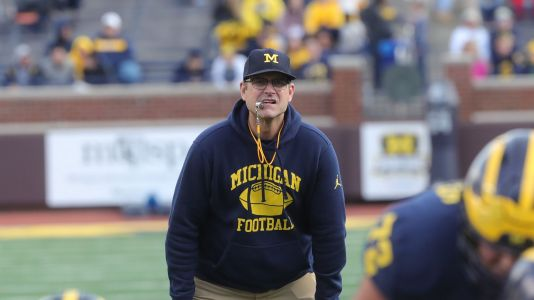 Opinion: It's about time. Jim Harbaugh implementing new-look offense at Michigan