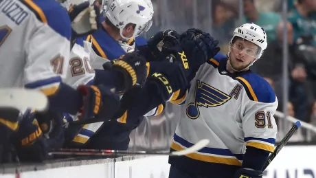 Blues move to brink of Cup final after blanking Sharks