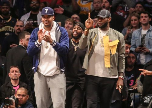 Carmelo Anthony shares story of LeBron James saving him in the ocean 'like MacGyver'