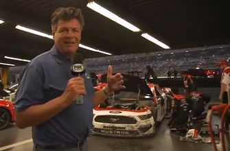 Michael Waltrip tours the garage after 'The Big One' | 2019 DAYTONA | FOX NASCAR