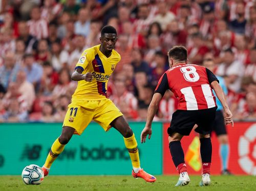 Barcelona forward Dembele out 5 weeks with thigh injury
