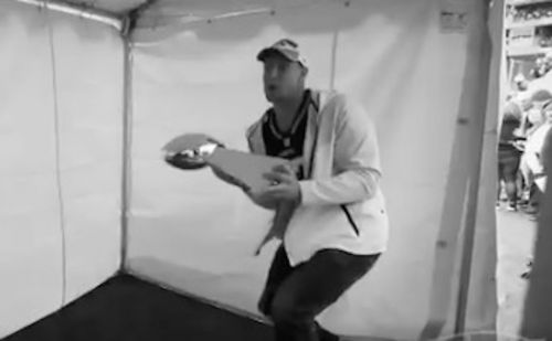 Rob Gronkowski stunned Patriots by denting Lombardi Trophy with a baseball