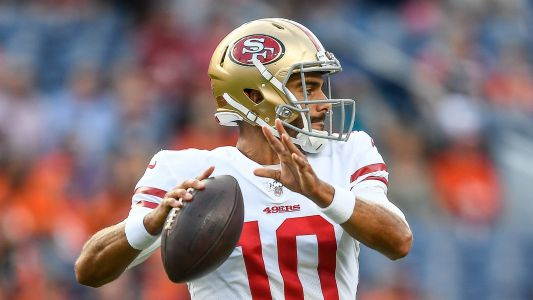 Jimmy Garoppolo struggles in first game since ACL injury, finishes with 0 passing yards