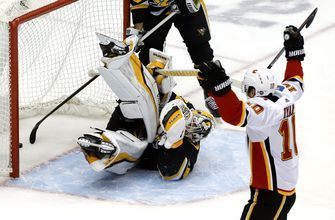 Flames snap 4-game skid, beating Penguins 5-4