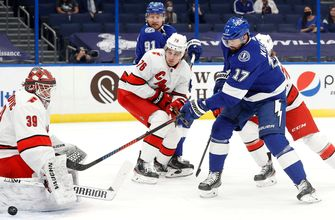 Ross Colton scores in his NHL debut, Lightning shut out Hurricanes for 3-0 win
