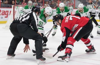 Seguin, Heiskanen with 2 points in Stars 4-3 OT loss to Senators