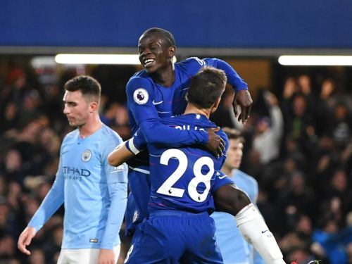Chelsea 2 Manchester City 0: Kante and David Luiz hand champions first defeat