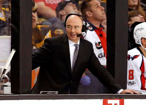 Pierre McGuire had a puck come so close to hitting him in the head during broadcast