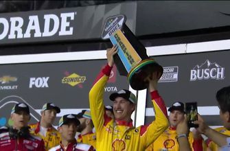 Joey Logano wins the first Duel qualifying race at Daytona | NASCAR on FOX