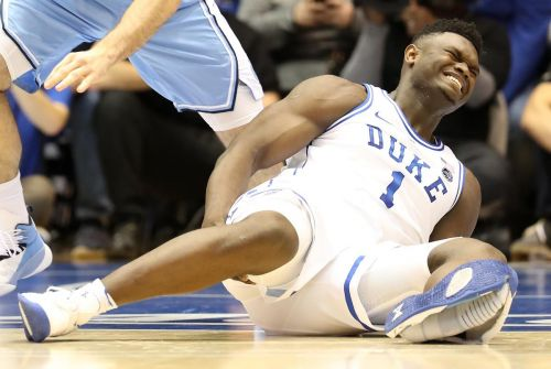 Just Blew It - Duke's Zion Williamson suffers knee injury when Nike blows out in marquee matchup