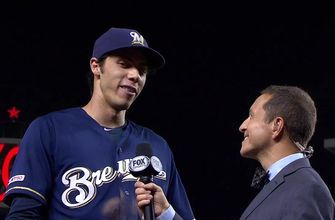 Yelich on Brewers 14-inning marathon win: 'One of the craziest games I've ever been a part of'