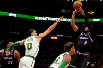 Dwyane Wade scores 19, Heat ride season-high 18 three-pointers to win over Celtics