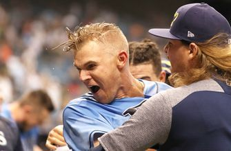 Jake Bauers' 12th-inning walk-off home run powers Rays to sweep of Yankees