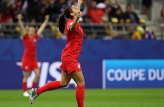 Alex Morgan crushes another goal to give the U.S. the 10-0 lead over Thailand