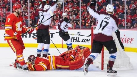 Avs sting Flames with series-clinching win