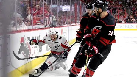 Hurricanes put a hurt on Capitals to tie series 2-2