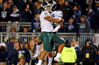 Michigan State shocks No.8 Penn State in the dying seconds for a 21-17 Spartan win