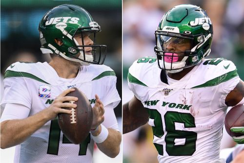 Jets' Le'Veon Bell can't hold back his Sam Darnold joy