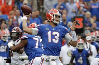 Franks silences crowd, Florida beats South Carolina 35-31