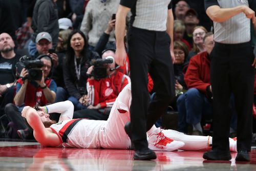 Trail Blazers' Jusuf Nurkic suffers horrific leg injury in midst of career year