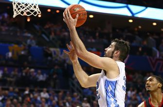 Luke Maye scores 19 points to help North Carolina get past Louisville