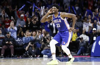 Sixers' Embiid fined for flipping off Hawk, cursing on air