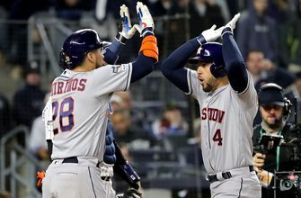 George Springer silences Yankee Stadium crowd with go-ahead three-run homer