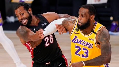 LeBron James emerges in 2nd half to push Lakers to brink of NBA title against Heat