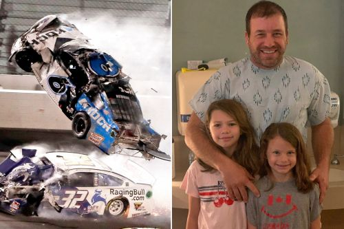Ryan Newman walking, playing with daughters after Daytona 500 crash