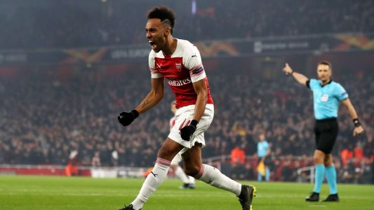 Aubameyang double sees Arsenal past Rennes into Europa League quarterfinals