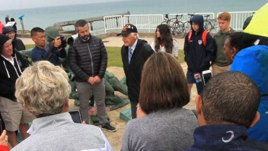 USWNT family members make emotional visit to Omaha Beach