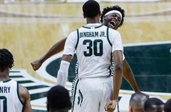 Michigan State upsets No. 5 Illinois, 81-70, keeping tournament hopes alive