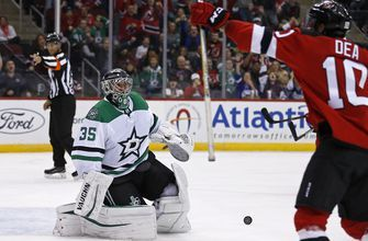 Anton Khudobin makes 31 saves, Stars shut out by Devils