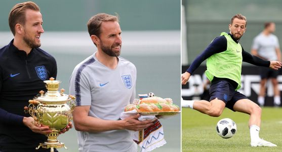 England hold first World Cup training session as Southgate and Kane are honoured by locals