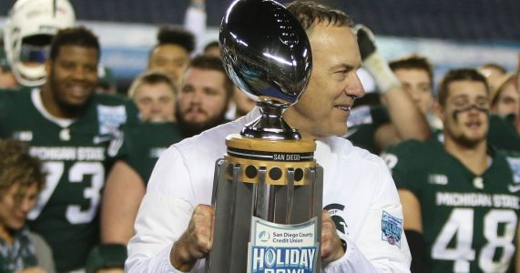 Mark Dantonio's glass 'half-full' over Michigan State's Redbox Bowl
