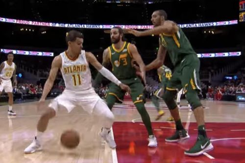 Watch: Hawks' Trae Young tricks Jazz defenders with slick dribble move