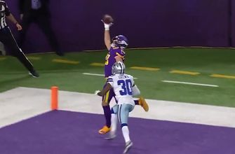 Vikings' Adam Thielen makes absurd one-handed touchdown catch in the corner of the end zone