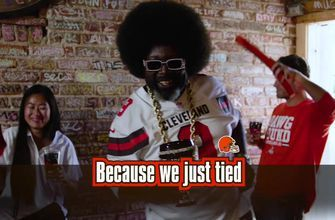 'Because we just tied': Afroman and Browns fans were partying last week