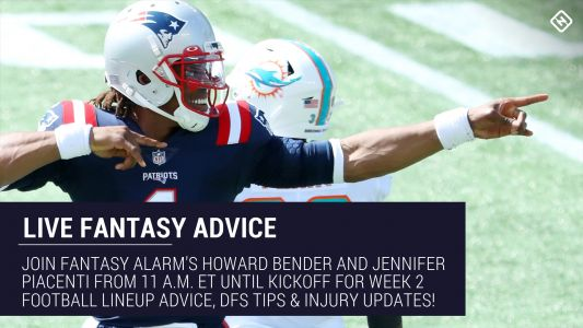 Live Week 2 Fantasy Football Advice: Injury updates, start 'em sit 'em, NFL DFS tips, more