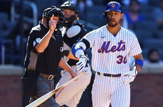 Mets beat Marlins 3-2 on a controversial bases-loaded walk-off hit by pitch