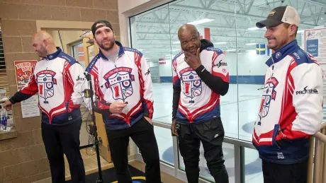 Are you ready for some curling? Team of ex-NFLers stepping up their game
