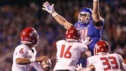 Second half rally helps Boise State knock off No. 23 Fresno State on the blue turf