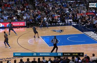 HIGHLIGHTS: Finney-Smith with the D, Dwight Powell finishes at other end