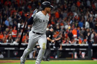 Gleyber Torres drives in four, Yankees blow out Astros in ALCS Game 1, 7-0