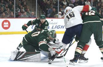 Panthers draw first blood but end up on losing end against Wild in Minnesota