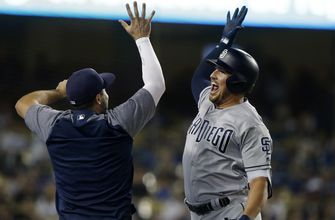 Last-place Padres beat NL West-leading Dodgers 5-3
