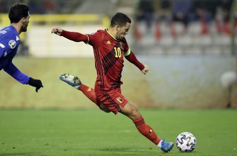 Belgium routs Cyprus 6-1 to stay perfect in Euro qualifying