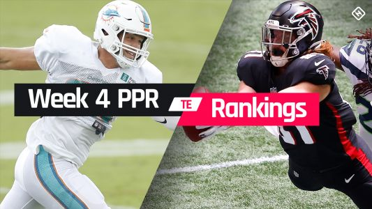 Week 4 Fantasy TE PPR Rankings: Must-starts, sleepers, potential busts at tight end