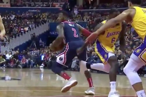 Watch: Lance Stephenson is probably still spinning after John Wall layup