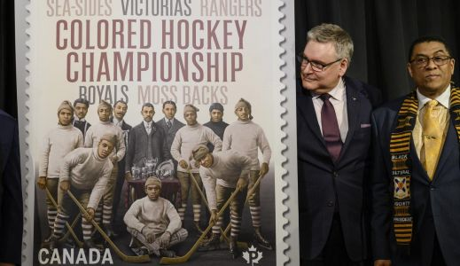 Canada Post unveils stamp honouring all-Black hockey league in the Maritimes